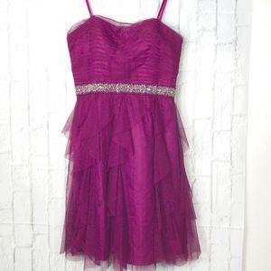 Adrianna Papell Hailey Strapless Sparkle Dress